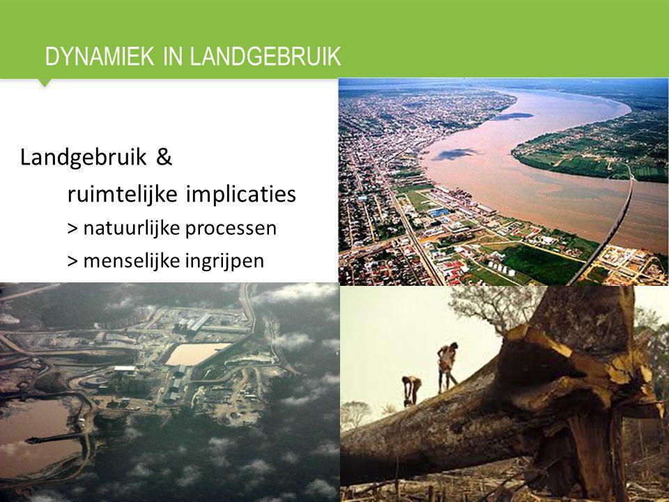 DYNAMIEK IN LANDGEBRUIK 3 Landgebruik & ruimtelijke implicaties > natuurlijke processen > menselijke ingrijpen
