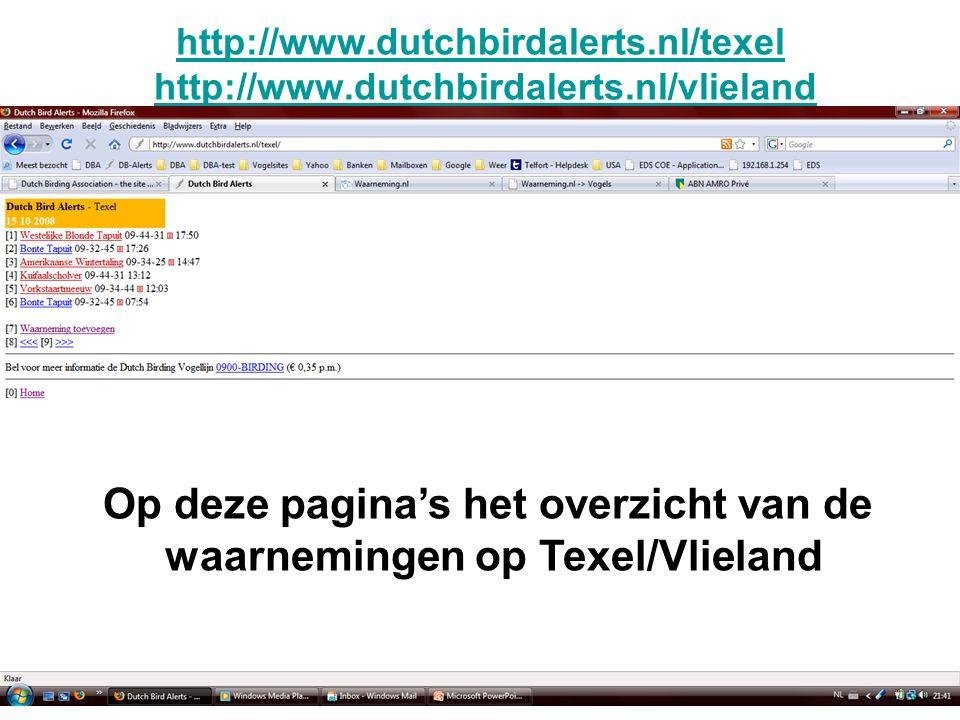http://www.dutchbirdalerts.nl/texel http://www.dutchbirdalerts.nl/texel http://www.dutchbirdalerts.nl/vlielandhttp://www.dutchbirdalerts.nl/vlieland O