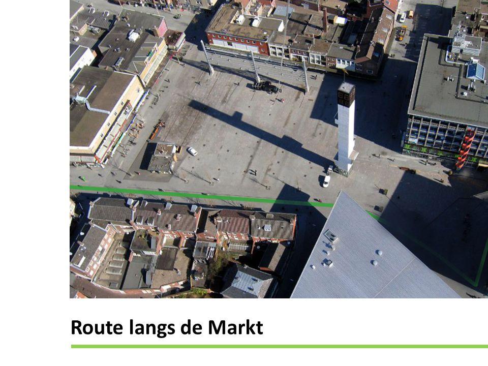 Route langs de Markt