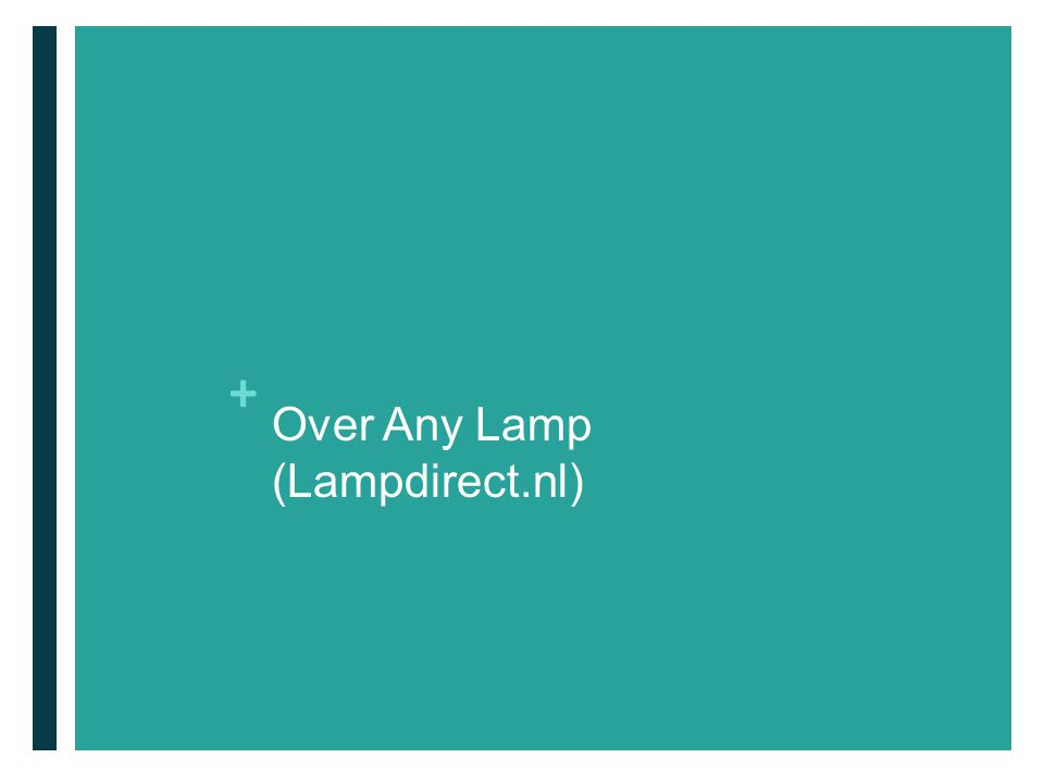 + Over Any Lamp (Lampdirect.nl)