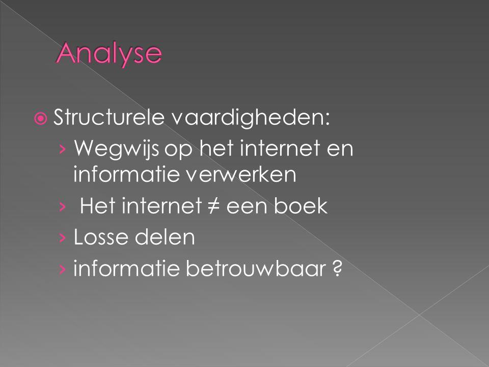  Structurele vaardigheden: › Wegwijs op het internet en informatie verwerken › Het internet ≠ een boek › Losse delen › informatie betrouwbaar ?
