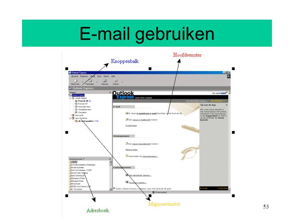 53 E-mail gebruiken
