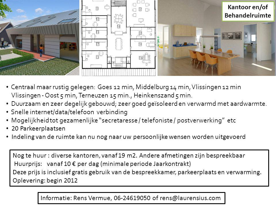 Nog te huur : diverse kantoren, vanaf 19 m2. Andere afmetingen zijn bespreekbaar Huurprijs: vanaf 10 € per dag (minimale periode Jaarkontrakt) Deze pr