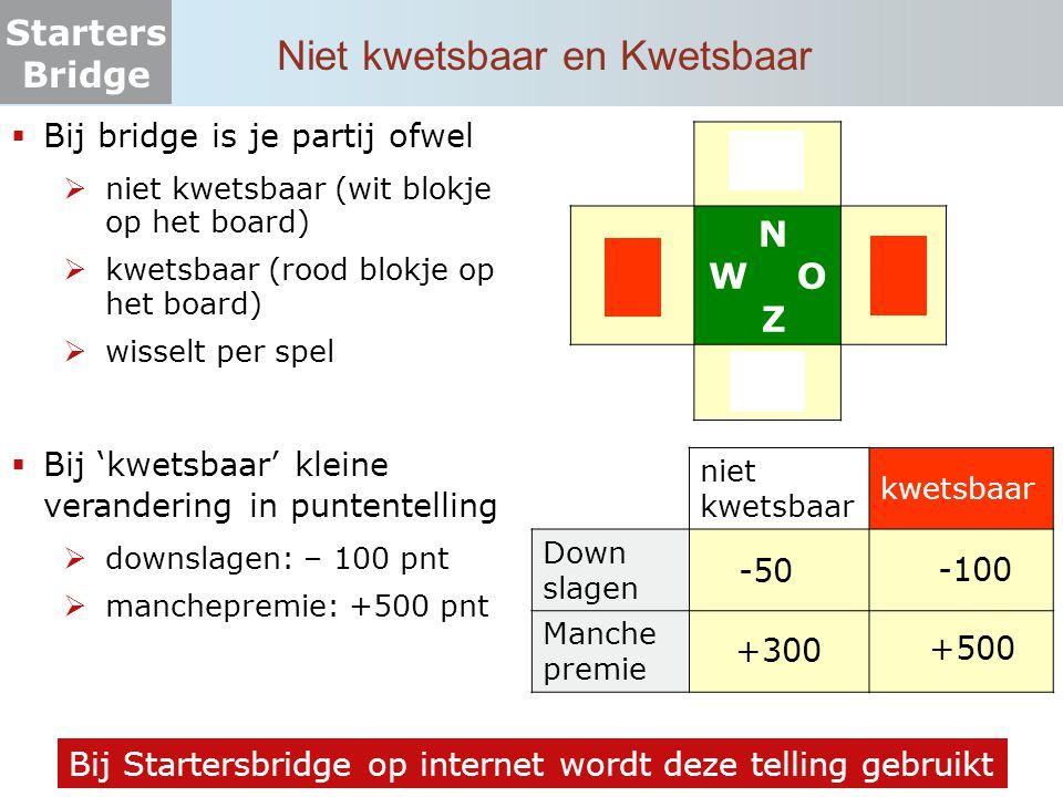 Starters Bridge Scores bij wedstrijdbridge (1)  In wedstrijdbridge worden de scores vergeleken van paren die dezelfde kaarten hebben gehad.