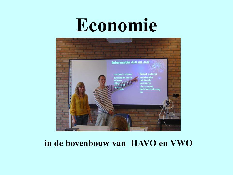 Economie in de bovenbouw van HAVO en VWO
