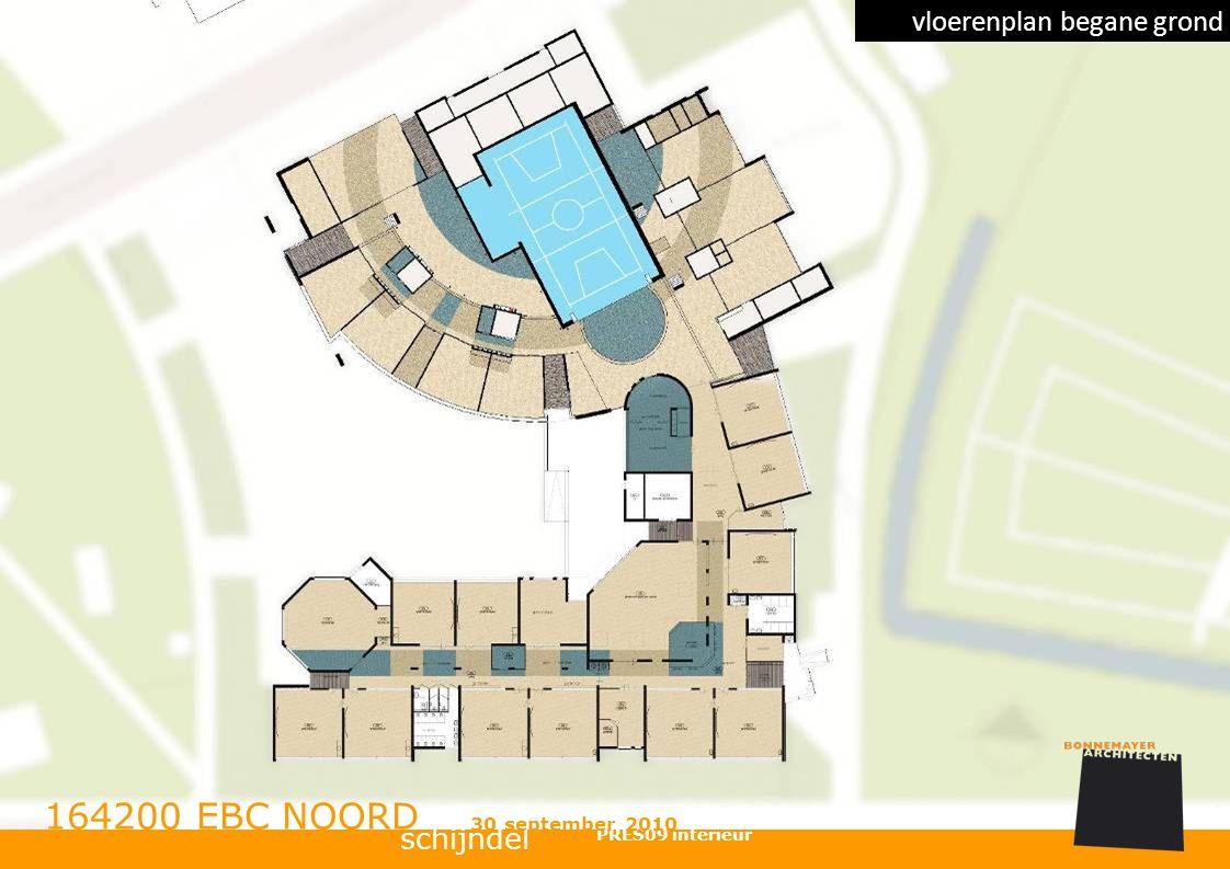 schijndel 164200 EBC NOORD PRES09 interieur 30 september 2010 vloerenplan begane grond