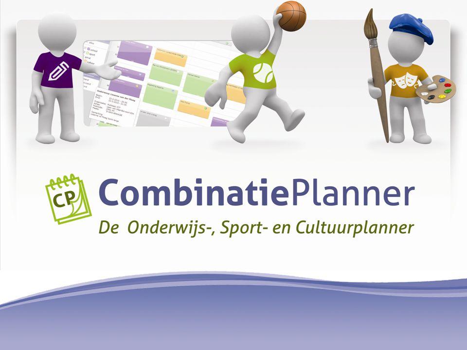  De CombinatiePlanner is speciaal ontwikkeld voor Combinatiefuncties CP Functiona- liteit Sport Matcher Monitoring Website OSC Contact Combinatie Planner Opbrengsten onderwijs sport cultuur