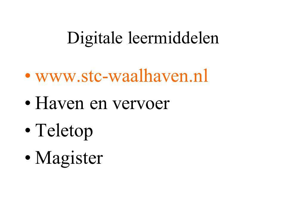 Digitale leermiddelen www.stc-waalhaven.nl Haven en vervoer Teletop Magister