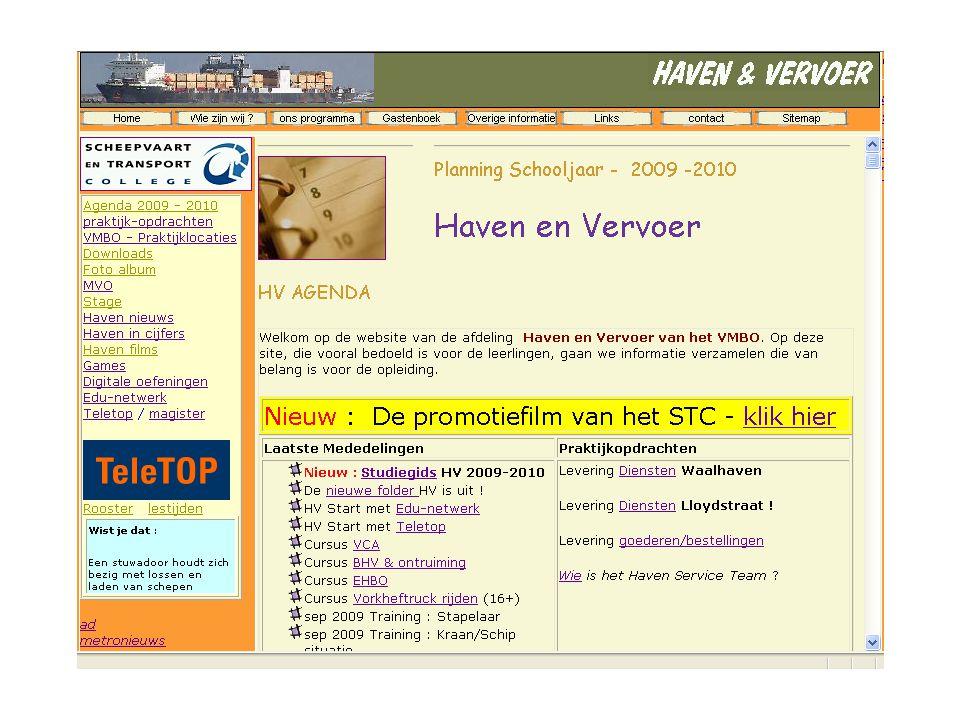 Haven operaties Medewerker niveau 2 Coordinator niveau 3 Manager niveau 4 BBL
