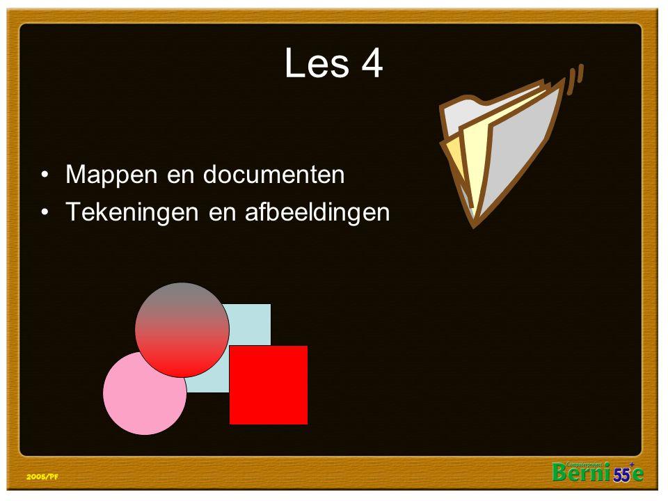 Les 4 Mappen en documenten Tekeningen en afbeeldingen