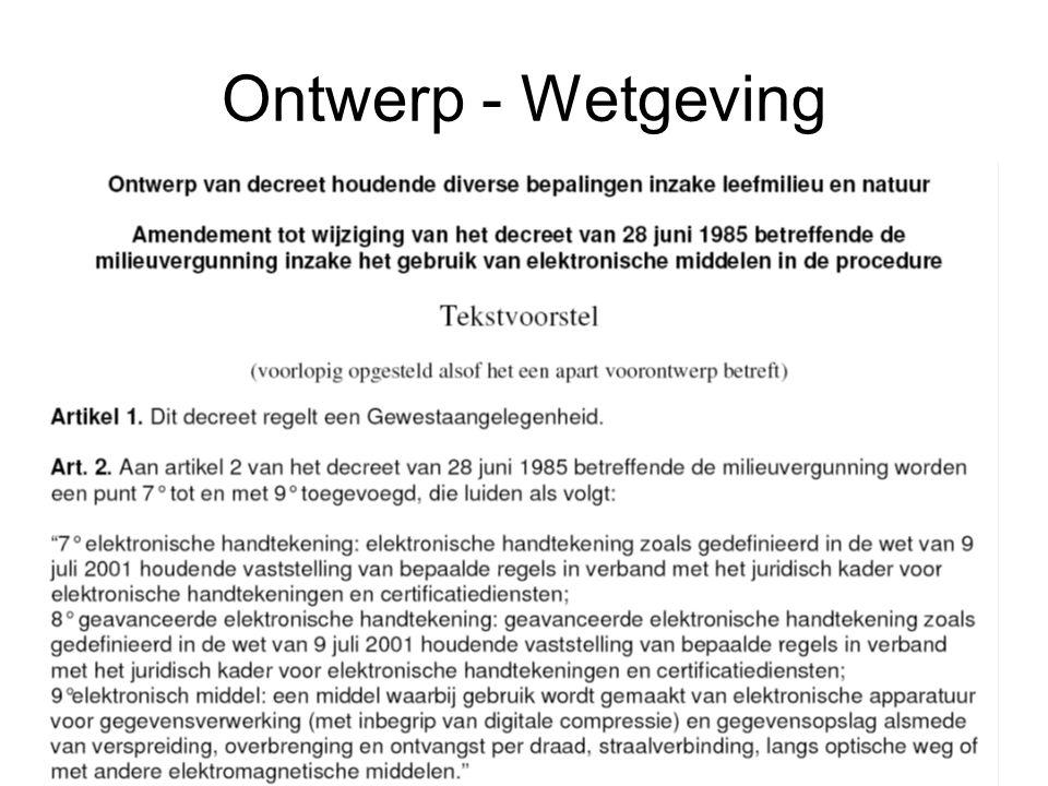 Ontwerp - Wetgeving
