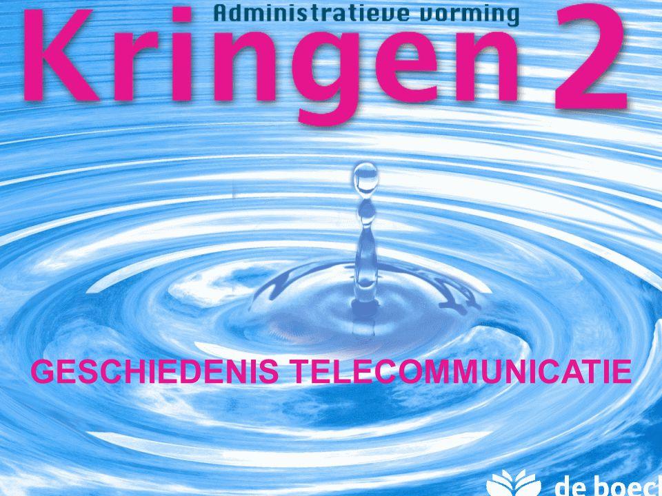 Module 6: Kantoortechnieken KRINGEN 2 begrip geschiedenis communicatie geschiedenis telecommunicatie Inhoud 2,2 milj.