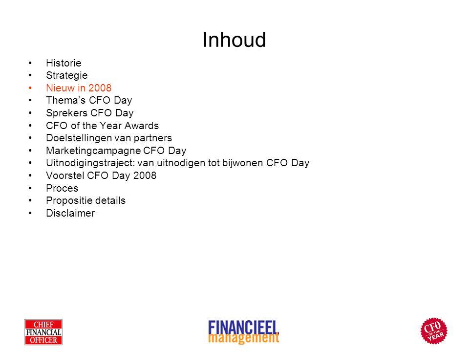 Historie In 2002 nemen Alex van Groningen en Hyperion Solutions het initiatief om de CFO Day te organiseren.