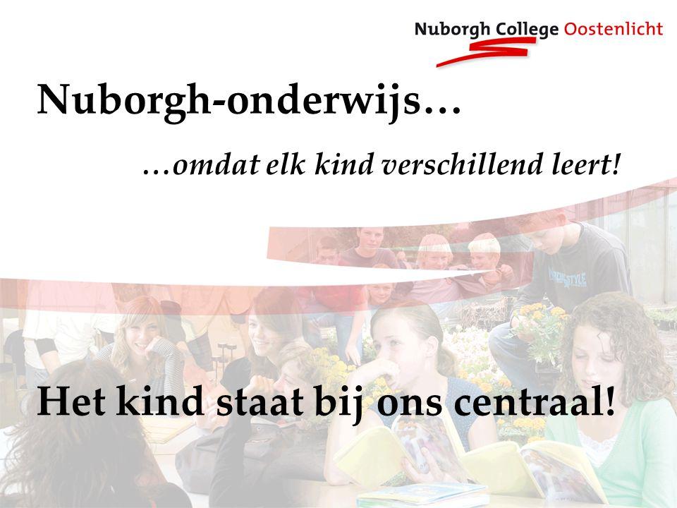 Nuborgh-onderwijs… …omdat elk kind verschillend leert! Het kind staat bij ons centraal!