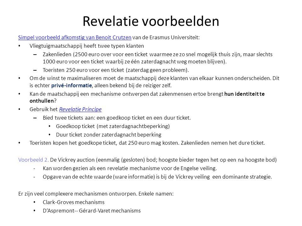Revelatie voorbeelden Simpel voorbeeld afkomstig van Benoit CrutzenSimpel voorbeeld afkomstig van Benoit Crutzen van de Erasmus Universiteit: Vliegtui