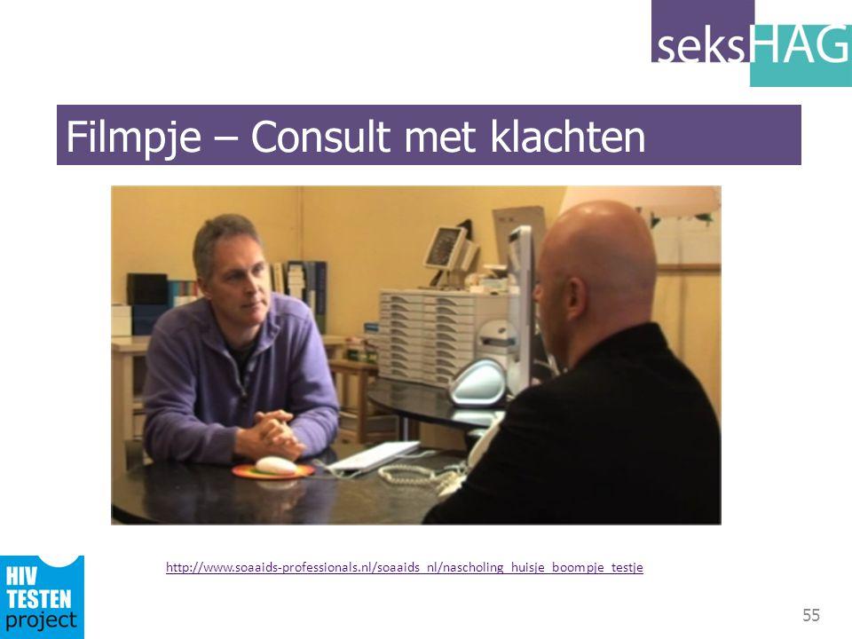 55 http://www.soaaids-professionals.nl/soaaids_nl/nascholing_huisje_boompje_testje Filmpje – Consult met klachten
