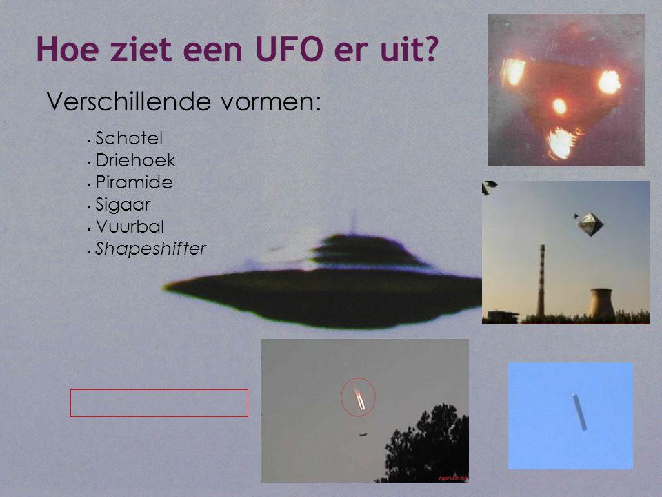 Hoe ziet een UFO er uit.