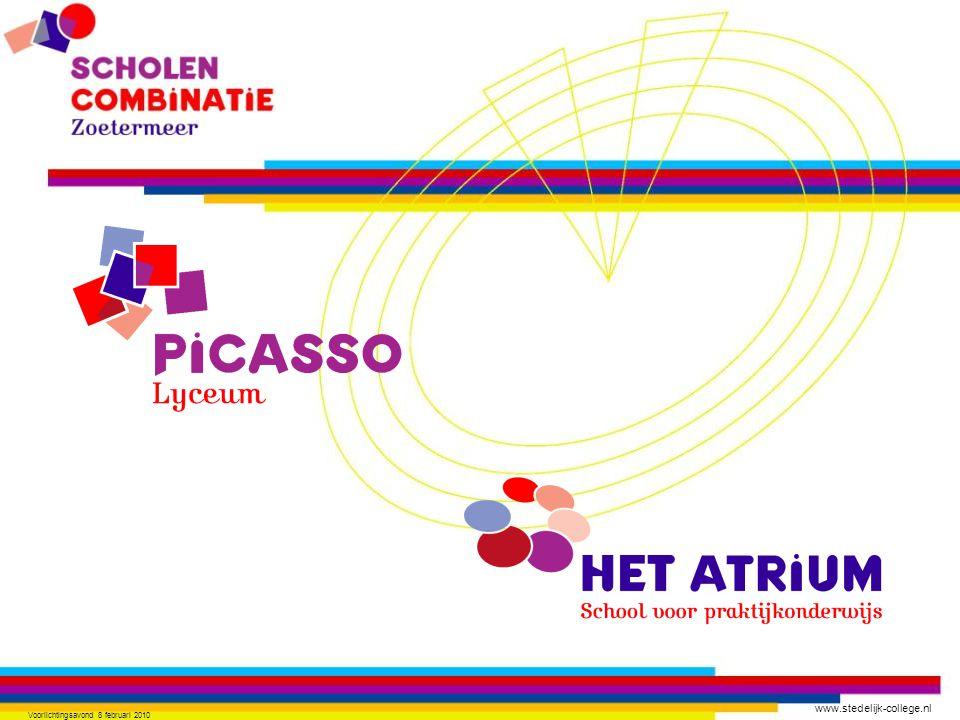 www.stedelijk-college.nl Voorlichtingsavond 8 februari 2010