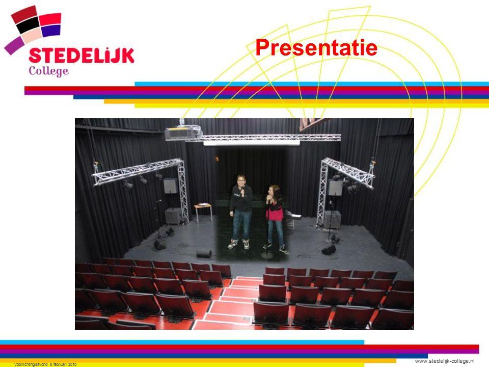 www.stedelijk-college.nl Voorlichtingsavond 8 februari 2010 Presentatie