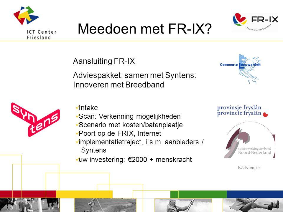 Meedoen met FR-IX.