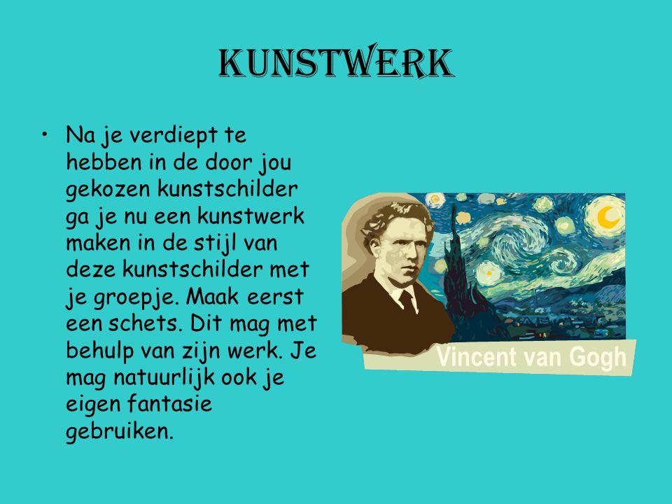 kunstschilders Leonardo Da Vinci Rembrandt van Rijn Claude Monet Vincent Van Gogh Pablo Picasso