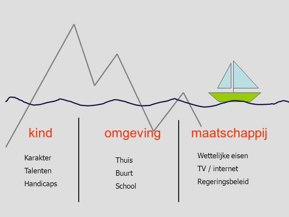 kindomgevingmaatschappij Thuis Buurt School Wettelijke eisen TV / internet Regeringsbeleid Karakter Talenten Handicaps
