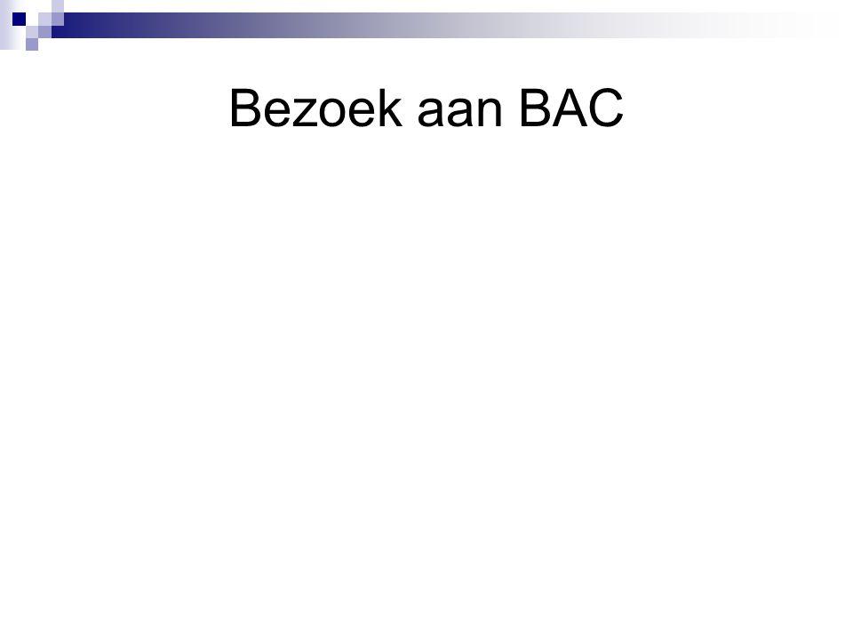 Bezoek aan BAC