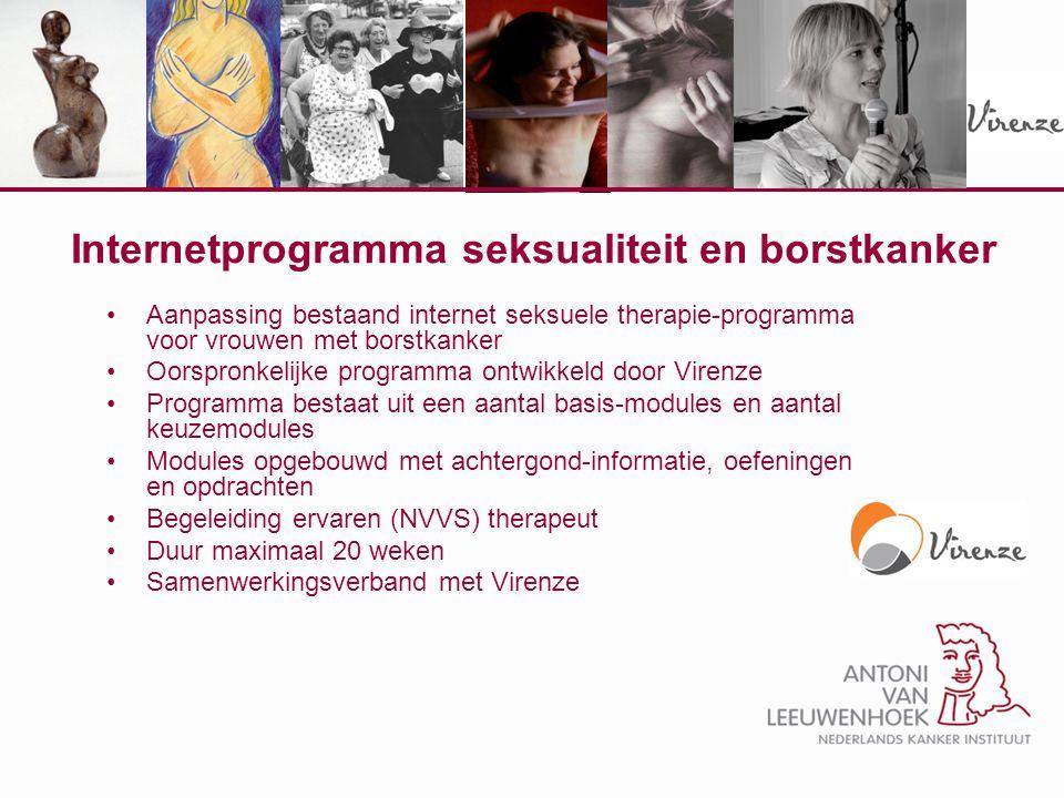 Internetprogramma seksualiteit en borstkanker Aanpassing bestaand internet seksuele therapie-programma voor vrouwen met borstkanker Oorspronkelijke pr