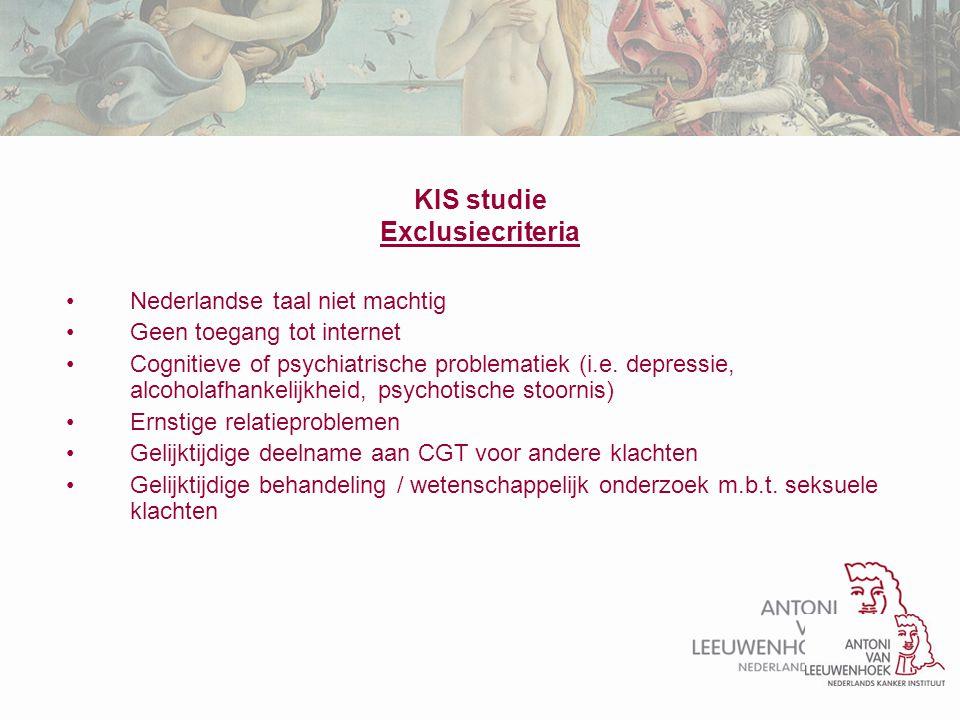 Nederlandse taal niet machtig Geen toegang tot internet Cognitieve of psychiatrische problematiek (i.e. depressie, alcoholafhankelijkheid, psychotisch