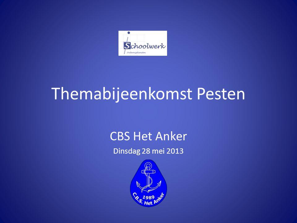 Themabijeenkomst Pesten CBS Het Anker Dinsdag 28 mei 2013