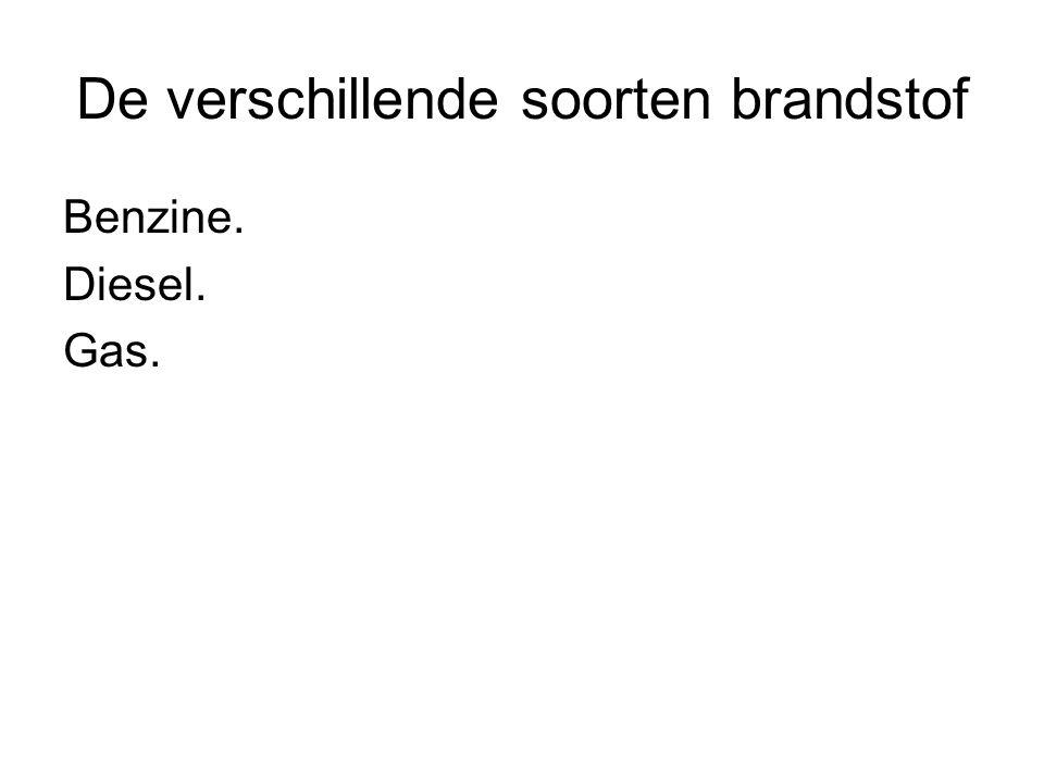 De verschillende soorten brandstof Benzine. Diesel. Gas.