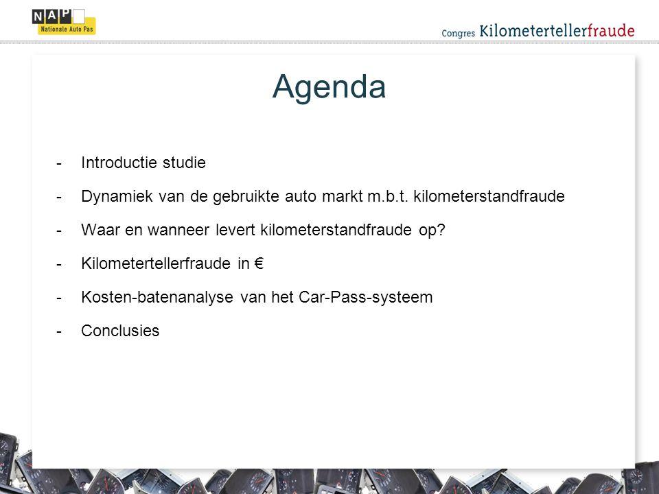 Agenda -Introductie studie -Dynamiek van de gebruikte auto markt m.b.t.