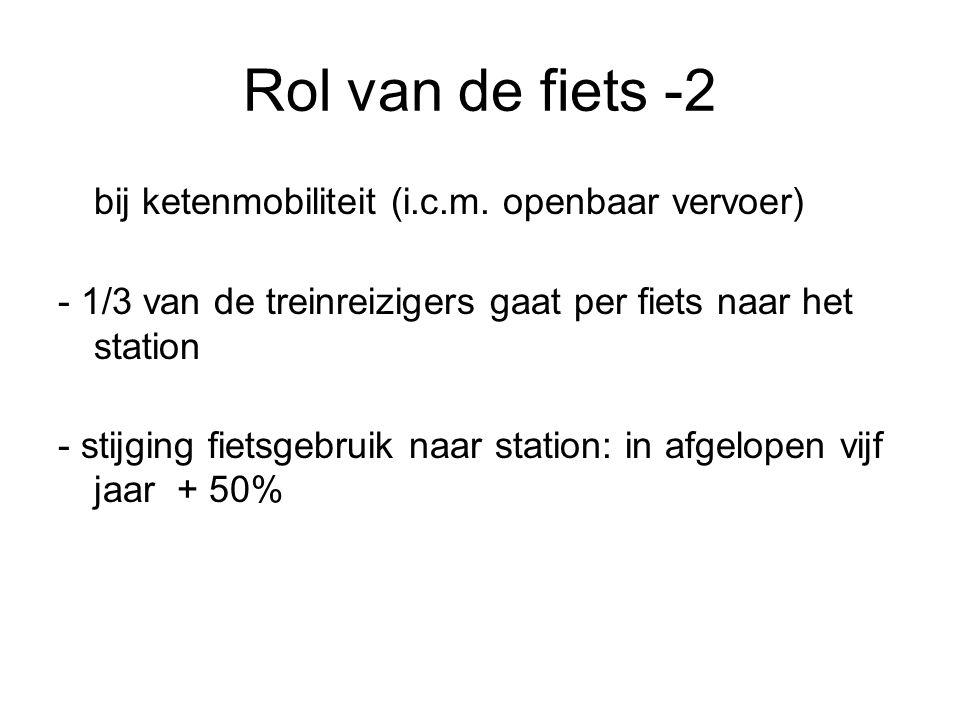 Rol van de fiets -2 bij ketenmobiliteit (i.c.m.