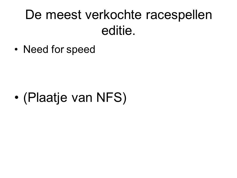 De meest verkochte racespellen editie. Need for speed (Plaatje van NFS)