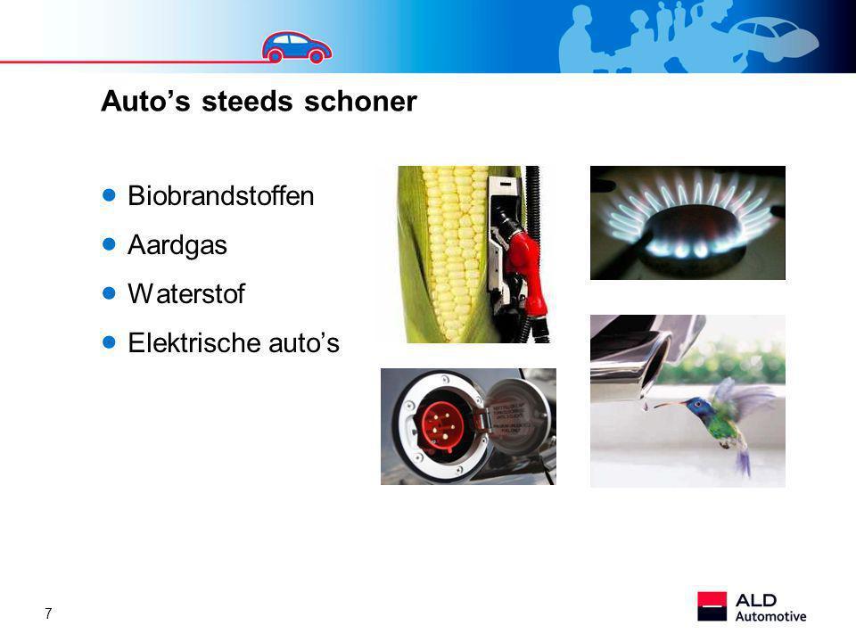 7 Auto's steeds schoner  Biobrandstoffen  Aardgas  Waterstof  Elektrische auto's