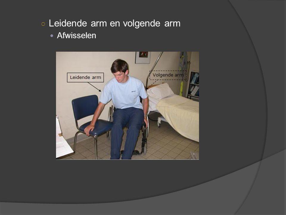 ○ Leidende arm en volgende arm Afwisselen