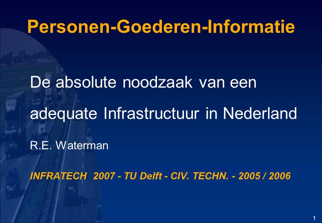 Personen-Goederen-Informatie De absolute noodzaak van een adequate Infrastructuur in Nederland R.E.