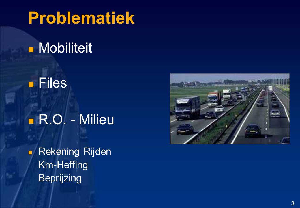 Problematiek Mobiliteit Files R.O. - Milieu Rekening Rijden Km-Heffing Beprijzing 3