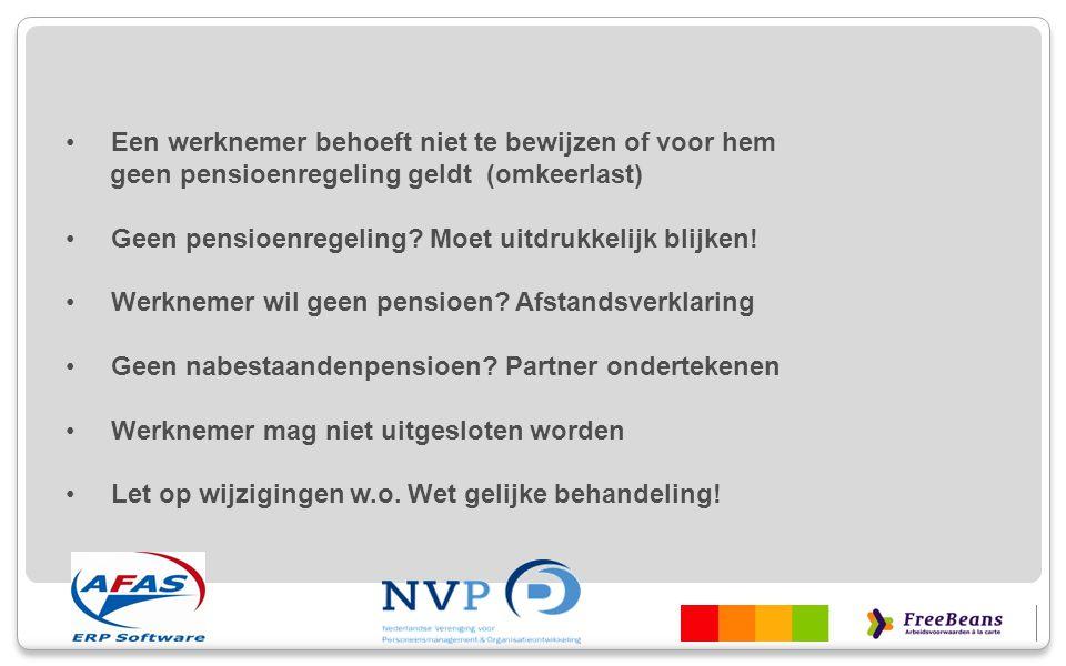 Werkgever verzekerings- overeenkomstpensioentoezegging Pensioen- pensioenreglement Werknemer uitvoerder (partner)