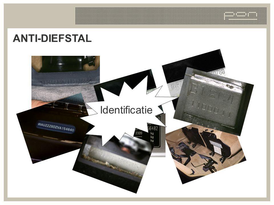 Veerpoot voor Dashbord A-B stijl Typeplaatje Auto-identificatie bij reservewiel FIN WVG ZZZ 3C Z B E 001454 Chassisnummer ANTI-DIEFSTAL Veerpoot voorzijde Dashboard A-B stijl Typeplaatje Auto indentificatie bij reservewiel
