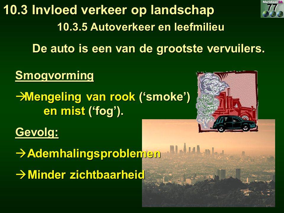 De auto is een van de grootste vervuilers. De auto is een van de grootste vervuilers. Smogvorming  Mengeling van rook ('smoke') en mist ('fog'). Gevo
