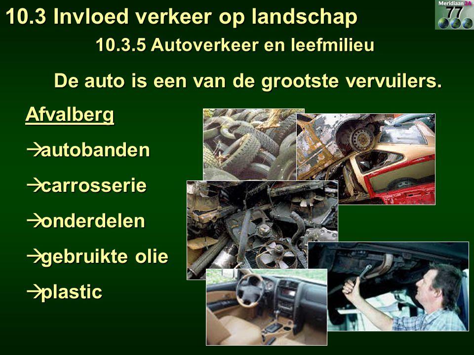 Afvalberg  autobanden  carrosserie  onderdelen  gebruikte olie  plastic De auto is een van de grootste vervuilers.