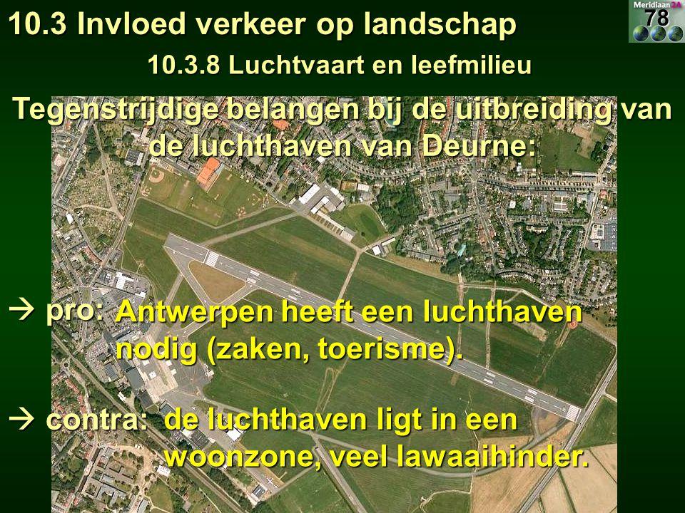 10.3 Invloed verkeer op landschap 10.3.8 Luchtvaart en leefmilieu Antwerpen heeft een luchthaven nodig (zaken, toerisme). de luchthaven ligt in een wo