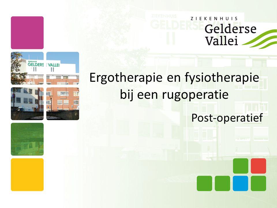 Ergotherapie en fysiotherapie bij een rugoperatie Post-operatief