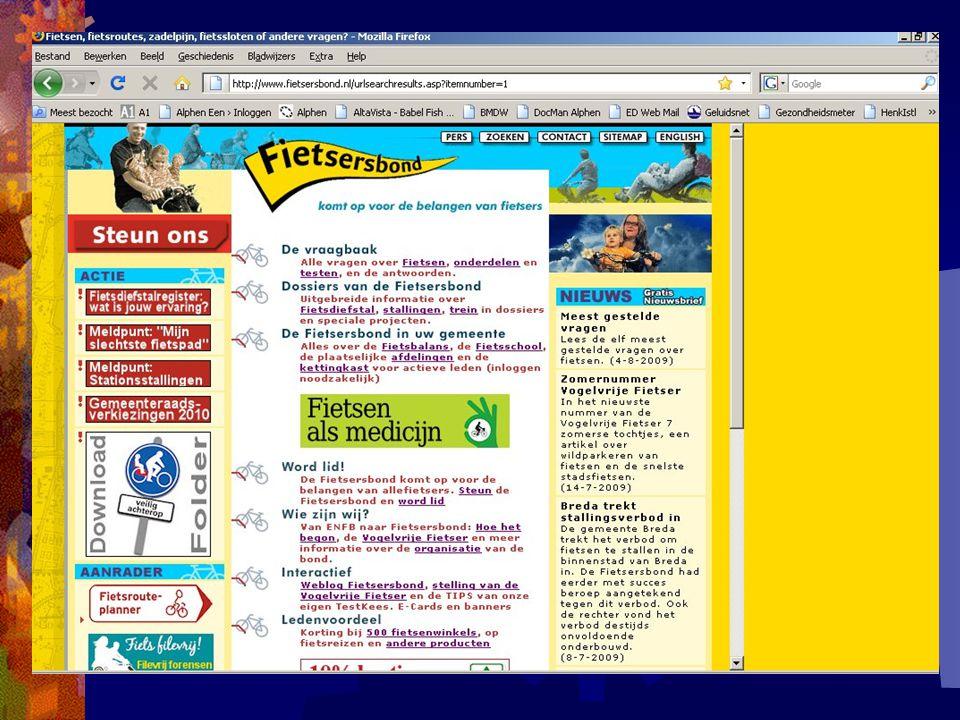 Knelpuntennota mei 2009 Fietsersbond afdeling Alphen aan den Rijn en omstreken.