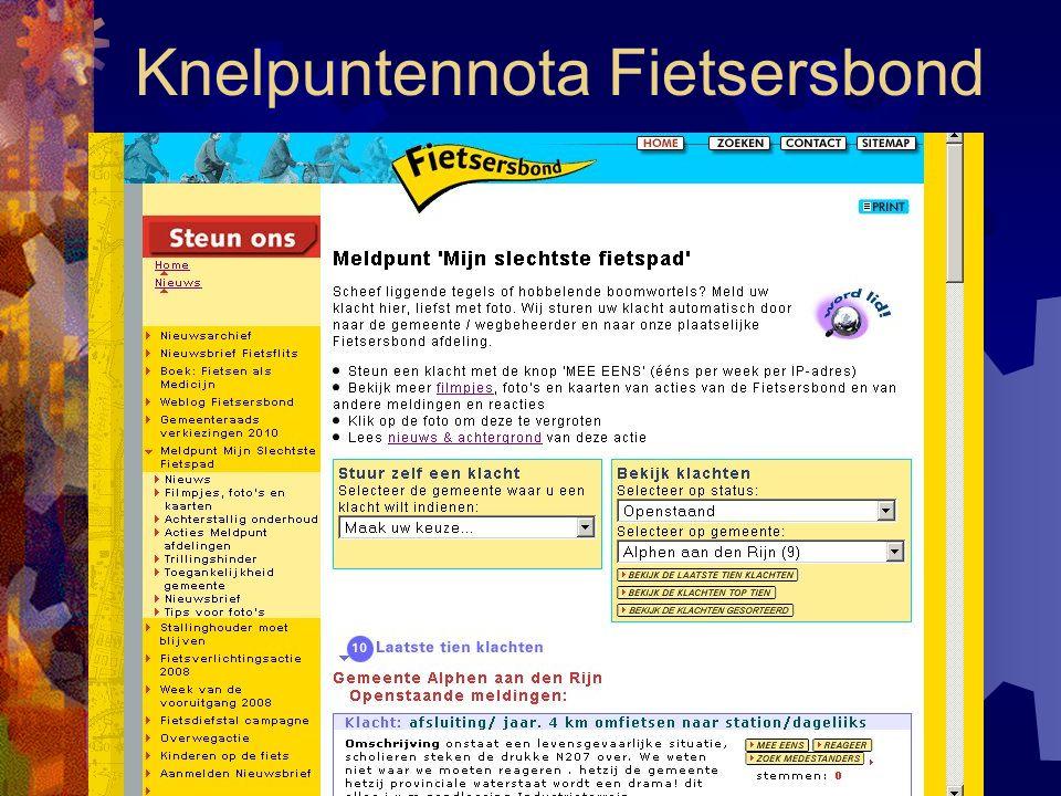 3 (67): 's Molenaarsbrug Overwegingen: - veel zwaar verkeer - nog 10 jaar(?) deze situatie - in 2007 een dodelijk ongeval Oplossing: - aan beide kanten voet/fietspad maken