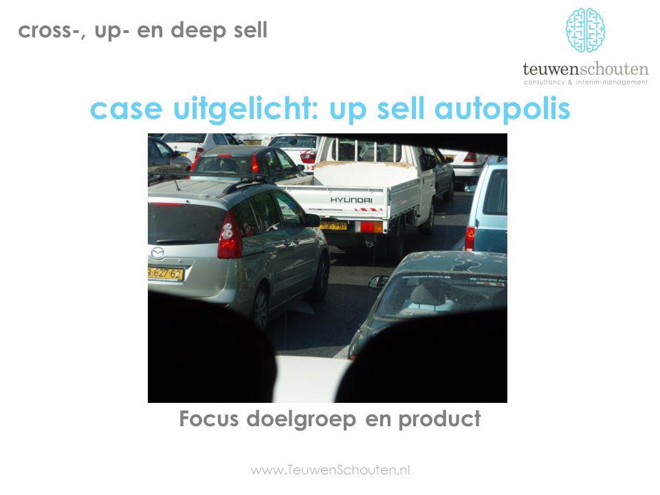 cross-, up- en deep sell Focus doelgroep en product www.TeuwenSchouten.nl case uitgelicht: up sell autopolis