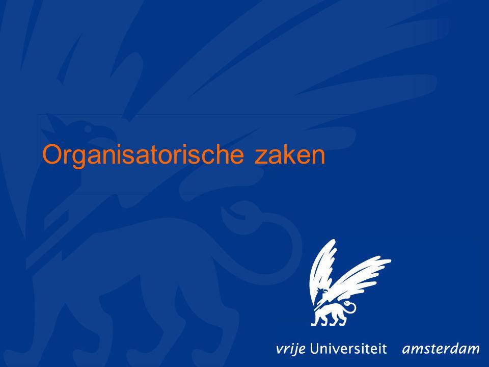 Organisatorische zaken