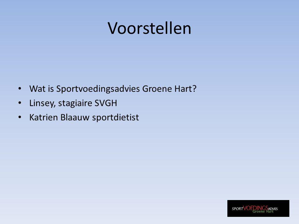 Voorstellen Wat is Sportvoedingsadvies Groene Hart.