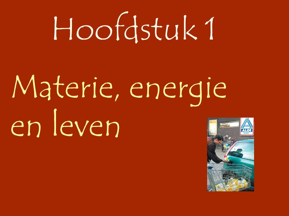 Hoofdstuk 1 Materie, energie en leven